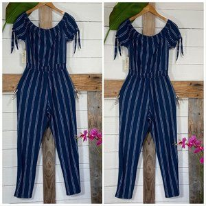 Jumpsuit Super Soft NWT Blue White Tummy Fabric